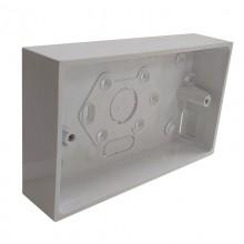 Schneider Mita 2-Gang PVC-U Square Corner Box 32mm White TBU322W