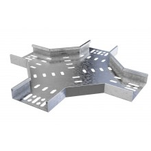 Trench Medium Duty Cable Tray Crossover (100mm) Pre-Galvanised