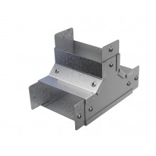 """Trench Cable Trunking Single Comp Internal  Lid Tee (3""""x3"""")"""
