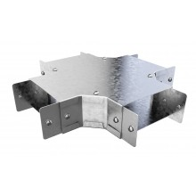 """Trench Cable Trunking Single Comp Fourway  (4""""x4"""")"""
