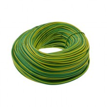 Unicrimp 100m x 2mm PVC Earth Sleeving - Green/Yellow