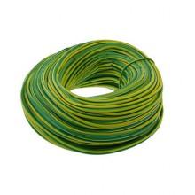 Unicrimp 100m x 2mm PVC Earth Sleeving - Green/Yellow