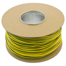 Unicrimp 100m x 5mm PVC Earth Sleeving - Green/Yellow
